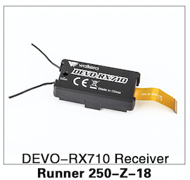 Walkera Runner 250 DEVO-RX710 Receiver - Carolina Dronz