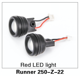 Walkera Runner 250 Red LED Lights (2) - Carolina Dronz - 1