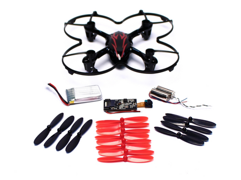 Hubsan H107-A40 Value Pack H107C (Black/Red) with HD Camera - Carolina Dronz