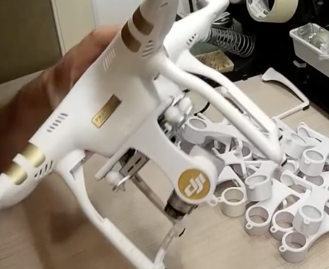 "Phantom 3 Gimbal Holder for ""Advanced"" or ""Professional"" FOR POLAR PRO Lenses - Carolina Dronz - 3"