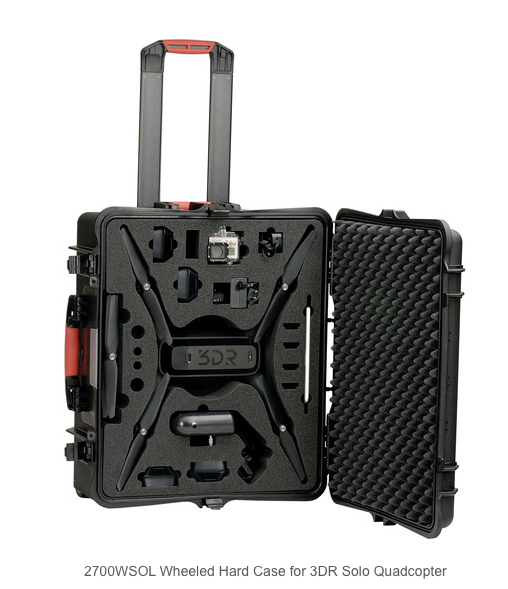 HPRC Wheeled Hard Case for 3DR Solo Quadcopter - Carolina Dronz - 2