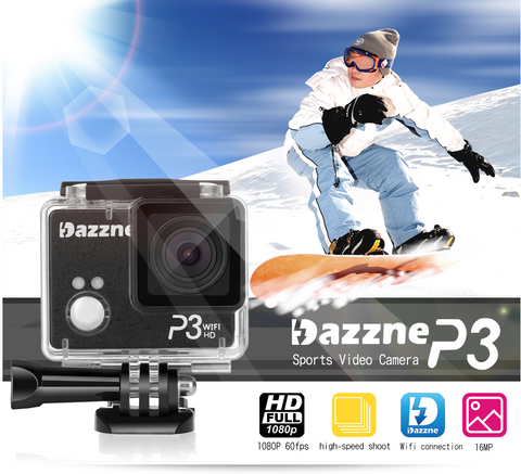 DAZZNE P3 Sports Camera 1080P60 WIFI APP - Carolina Dronz - 1