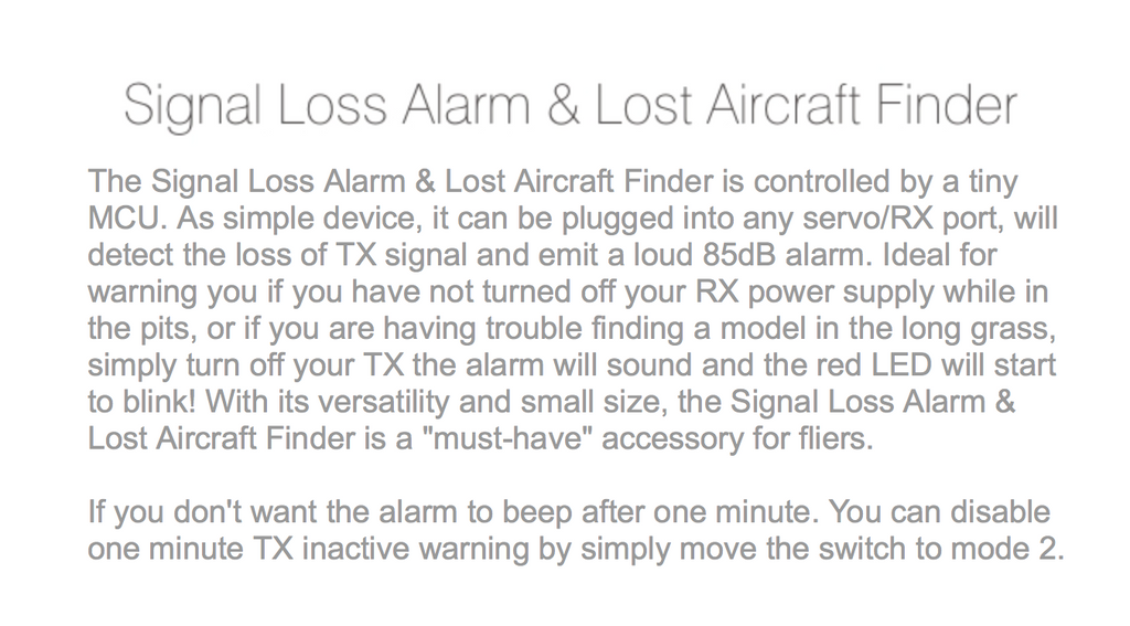 SKYRC RC  R/C Signal Alarm & Lost Aircraft Finder AC950 - Carolina Dronz - 3