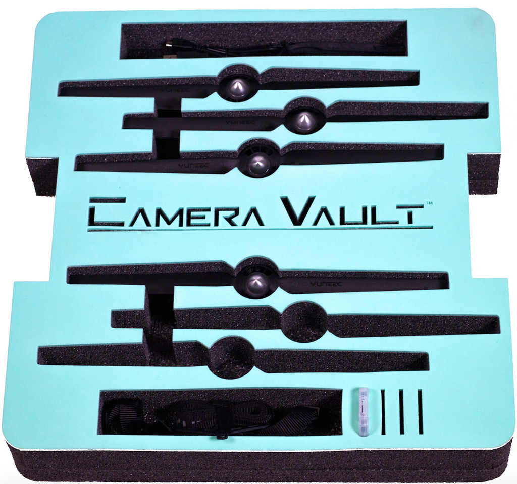CAMERA VAULT YUNEEC Q500/Q500+/Q500-4K FOAM INSERT FOR YUNEEC ALUMINUM CASE - Carolina Dronz - 5