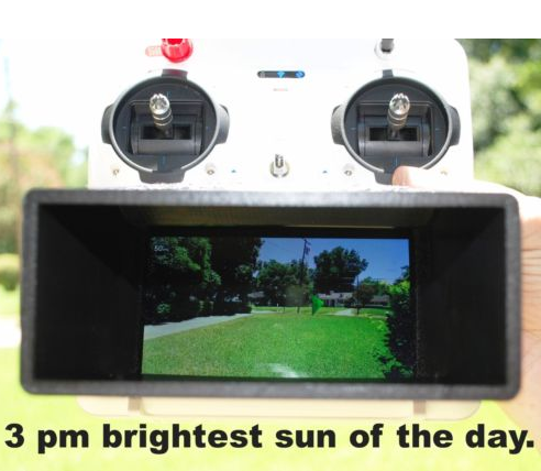Sun Shield Shade for the Yuneec Typhoon Q500/Q500+/Q500-4k ST10 transmitter 4.5/5.5 screen - Carolina Dronz - 4