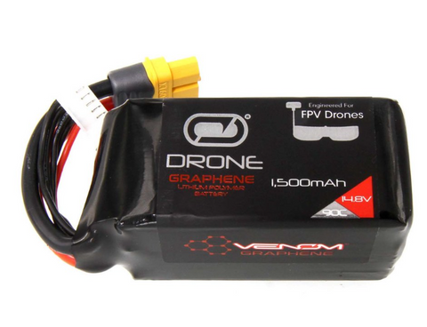 Venom Graphene 90C 4S 1500mAh 14.8V Drone Racing LiPo Battery with UNI 2.0 Plug