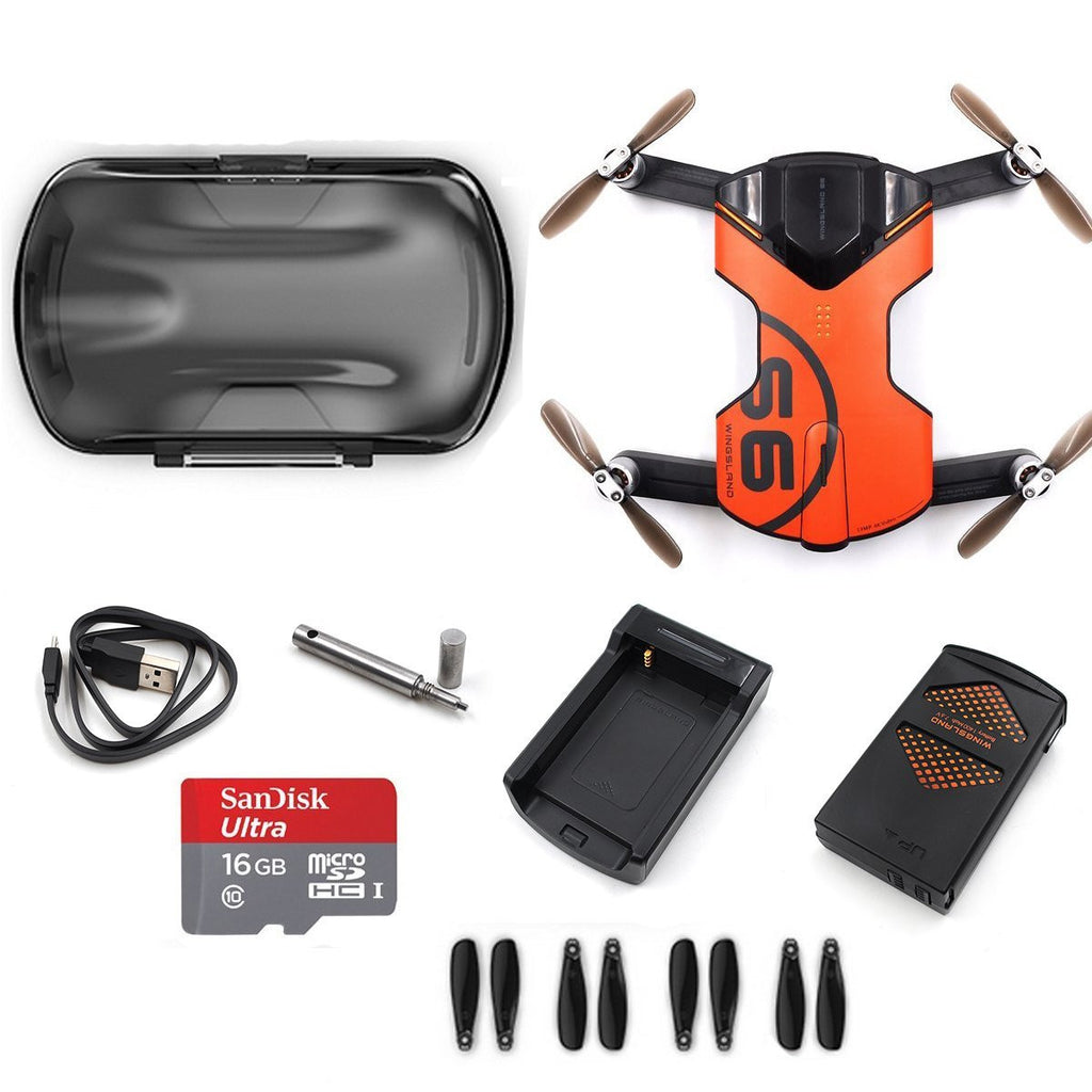 Wingsland S6 Pocket Drone Wifi with 4K UHD Camera - Carolina Dronz - 2
