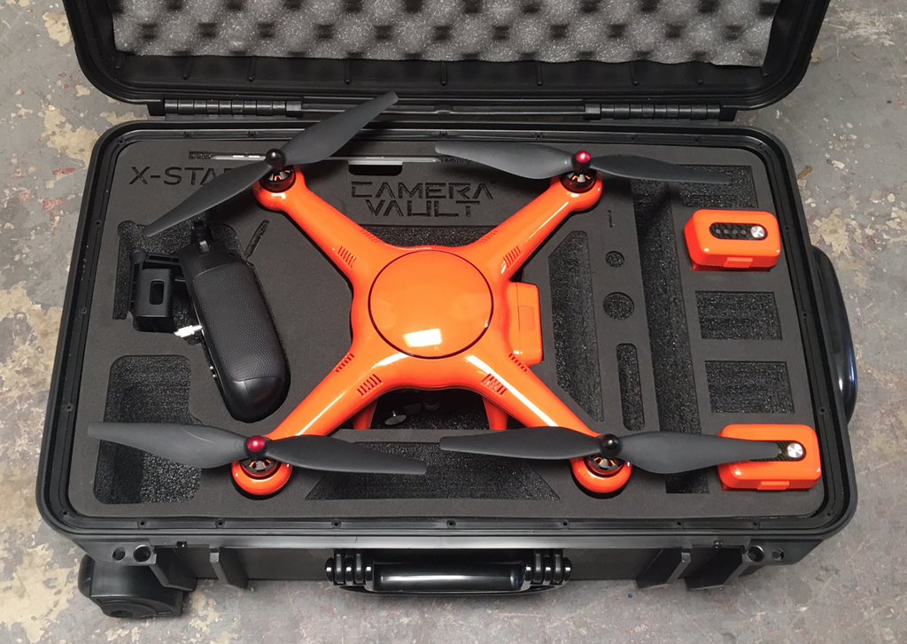 Camera Vault Autel XSTAR, XSTAR Premium  Wheeled Case Props On - Carolina Dronz