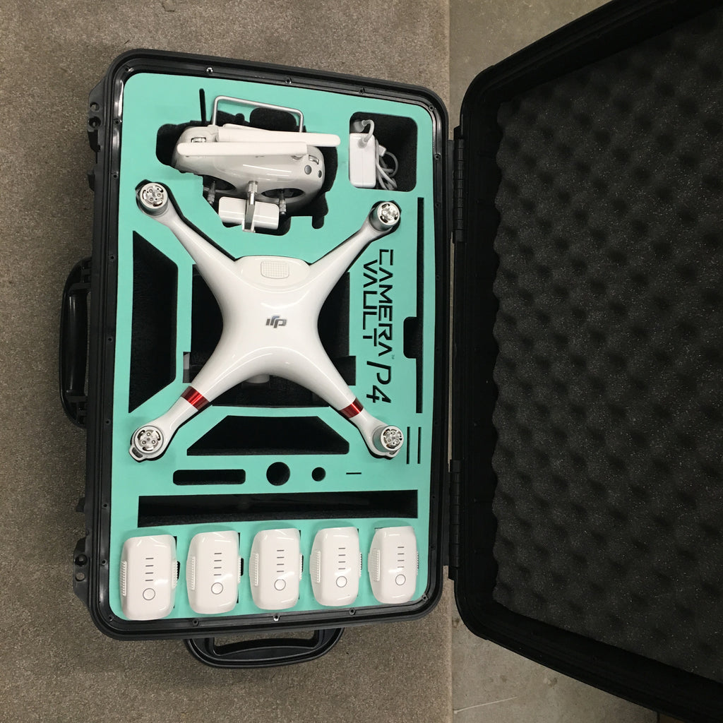 Camera Vault Phantom 4 Wheeled Case Props On - Carolina Dronz - 2