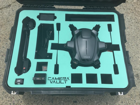 Camera Vault Yuneec Typhoon H Rolling Case, Mint Green Foam - Carolina Dronz - 1