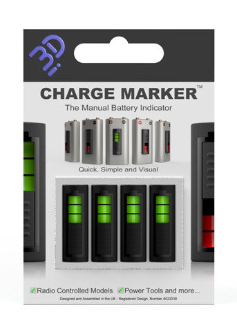 Battery Charger Marker, Manual Battery Indicator - Carolina Dronz - 1
