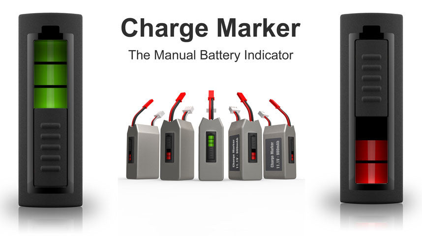 Battery Charger Marker, Manual Battery Indicator - Carolina Dronz - 3