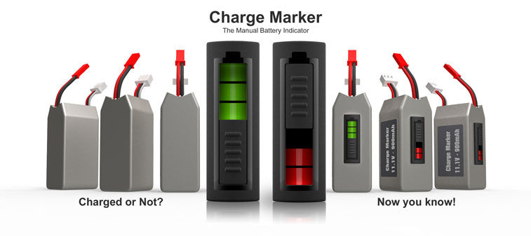 Battery Charger Marker, Manual Battery Indicator - Carolina Dronz - 2
