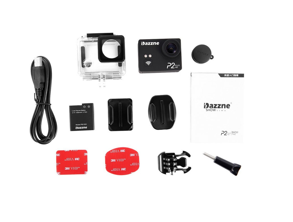 Dazzne P2 PLUS Sports Camera 2K30 1080P60 WIFI - Carolina Dronz - 24