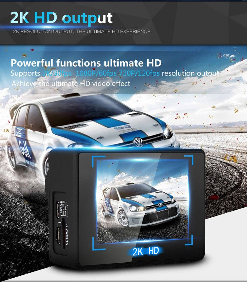 Dazzne P2 PLUS Sports Camera 2K30 1080P60 WIFI - Carolina Dronz - 4
