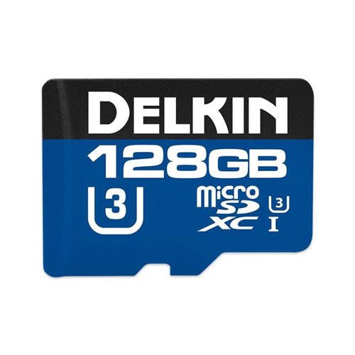 Delkin Devices Action Hyperspeed 128GB Micro SD Card and Adapter