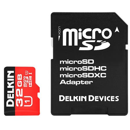 Delkin Devices Action 32GB Micro SD Card and Adapter