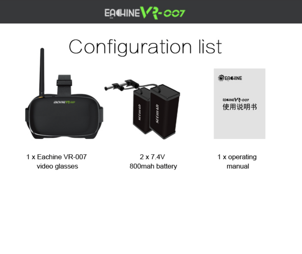 EACHINE VR-007 5.8G 40 Channel HD FPV Goggles - Carolina Dronz - 6