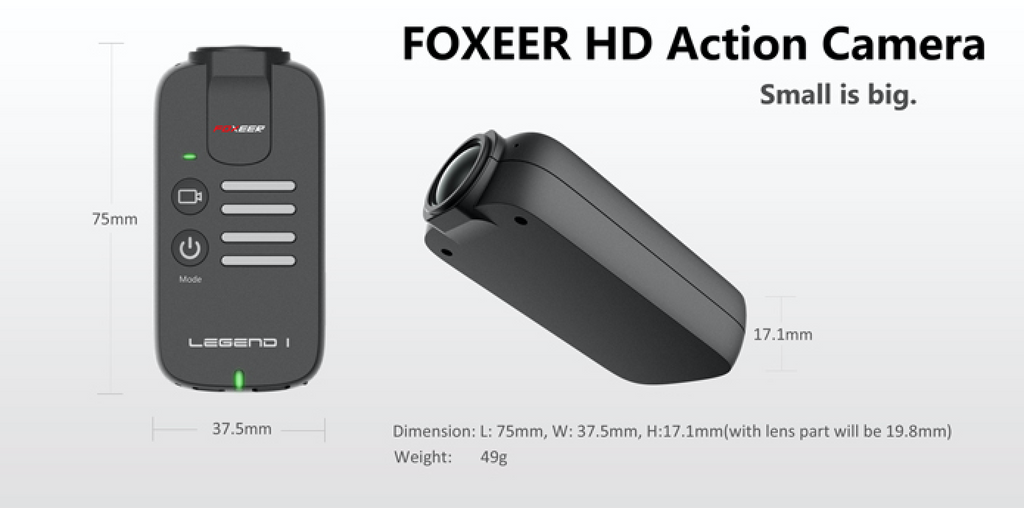 FOXEER Legend 1 16MP 1080/60 HD Camera - Carolina Dronz - 1