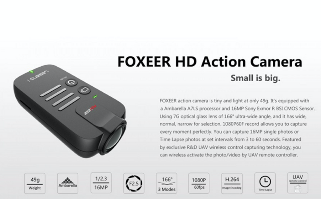 FOXEER Legend 1 16MP 1080/60 HD Camera - Carolina Dronz - 2