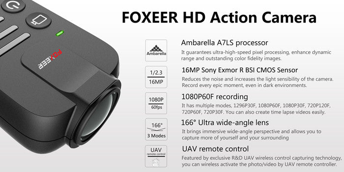 FOXEER Legend 1 16MP 1080/60 HD Camera - Carolina Dronz - 3