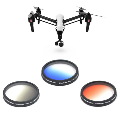 FREEWELL DJI INSPIRE 1 / OSMO GRADUATED FILTER 3-PACK - Carolina Dronz