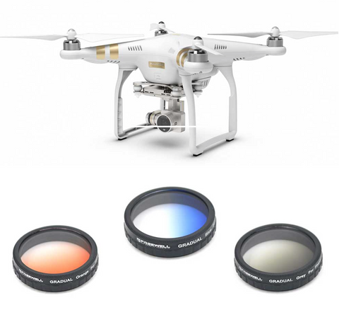 FREEWELL DJI PHANTOM 3 GRADUATED FILTER 3-PACK - Carolina Dronz - 1
