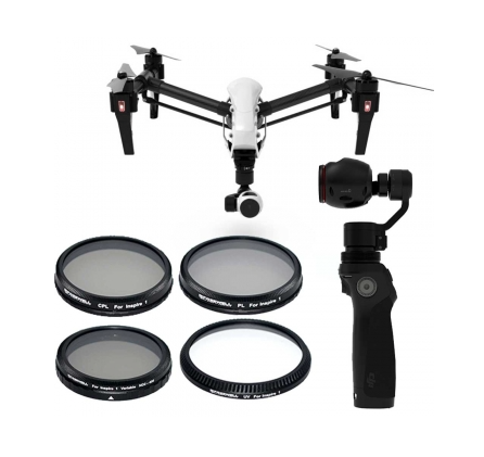 FREEWELL DJI INSPIRE 1 / OSMO FILTER 4-PACK - Carolina Dronz - 1
