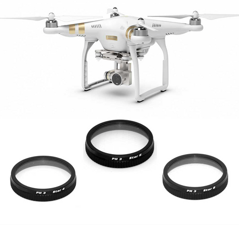 FREEWELL DJI P3 ADV/PRO STAR FILTER 3-PACK - Carolina Dronz - 1