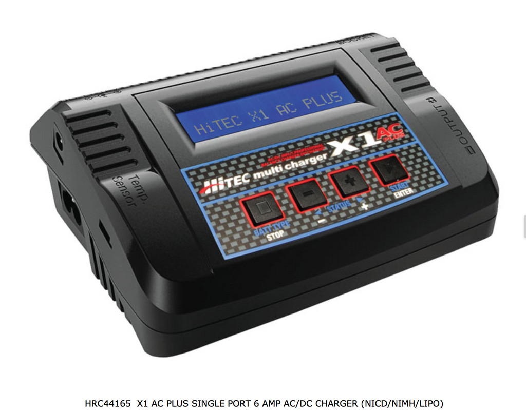 HITEC X1 PLUS AC/DC Charger (HRC44165) - Carolina Dronz