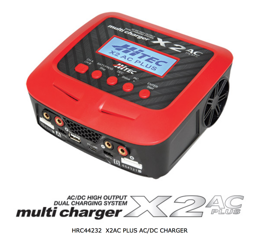 HITEC X2 AC Plus Dual Charger, AC/DC High Output - Carolina Dronz