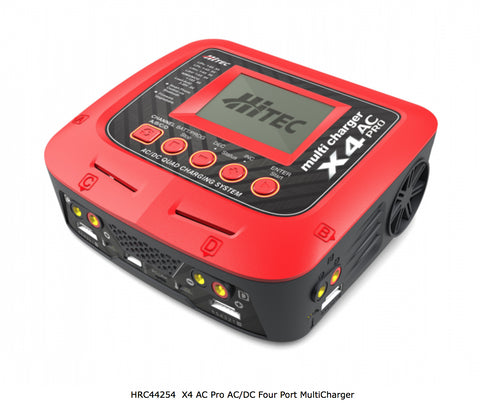 HiTEC X4 AC Pro AC/DC Four Port MultiCharger, HRC44254 - Carolina Dronz