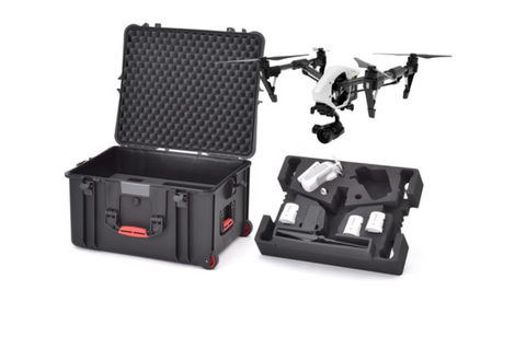 HPRC Wheeled Hard Case with Foam for DJI Inspire 1 or Pro - Carolina Dronz - 1