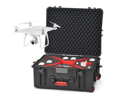 HPRC Hard Case for DJI Phantom 4 with Wheels - Carolina Dronz - 1