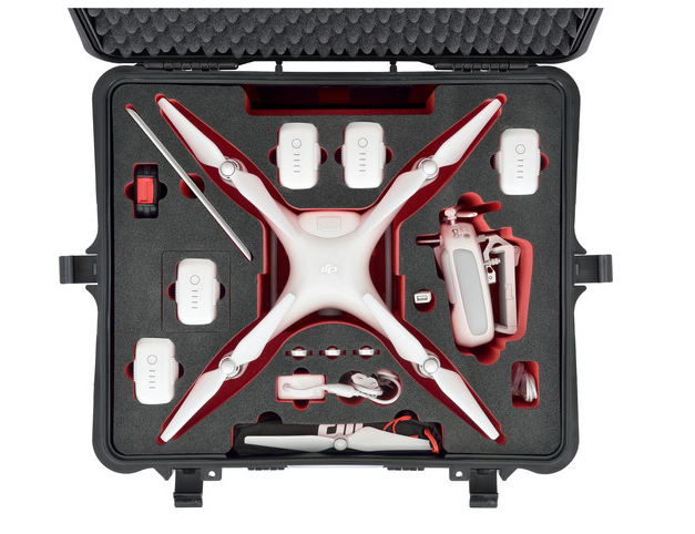 HPRC Hard Case for DJI Phantom 4 with Wheels - Carolina Dronz - 5