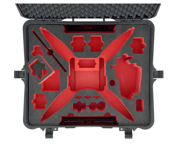 HPRC Hard Case for DJI Phantom 4 with Wheels - Carolina Dronz - 4
