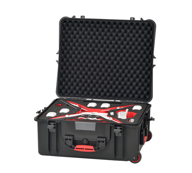 HPRC Hard Case for DJI Phantom 4 with Wheels - Carolina Dronz - 3