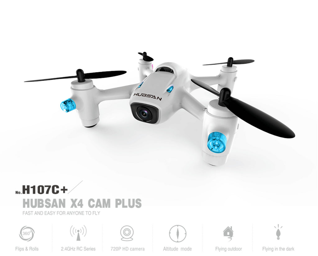 Hubsan 2nd Gen X4 Quad w/HD Camera, 2.4GHz HICH107C+ - Carolina Dronz - 1