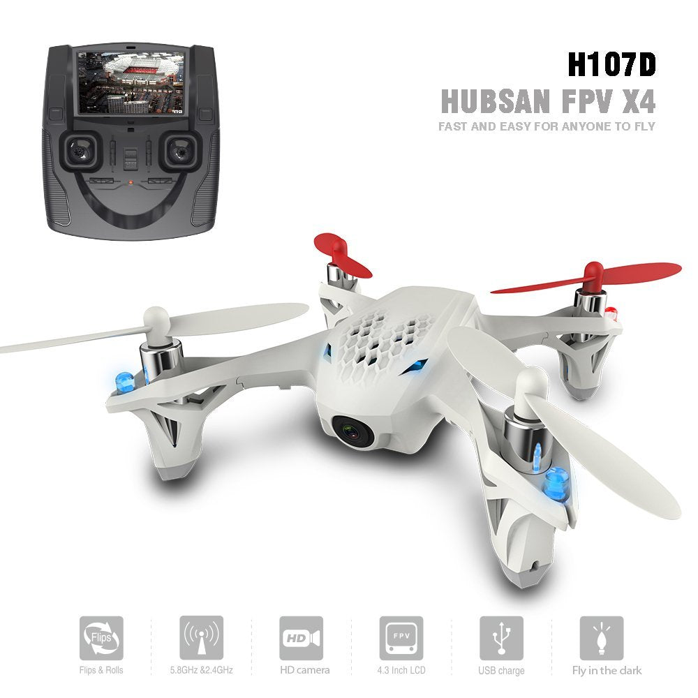 Hubsan H107D X4 FPV 480g Camera Live Video