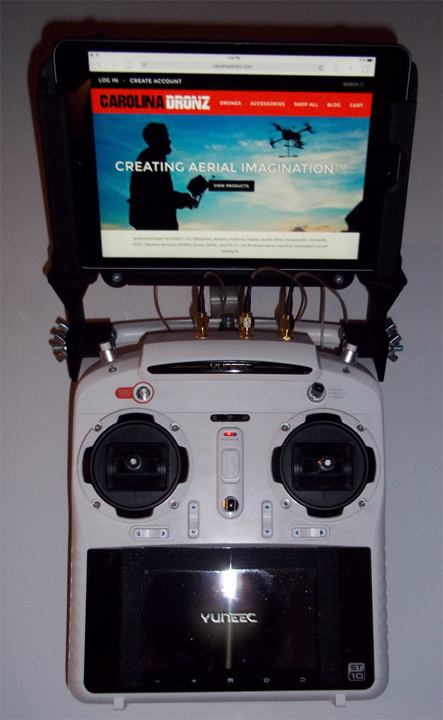 Yuneec 3D Printed iPAD Mini Tablet Mount for the Yuneec ST10 Controller Series - Carolina Dronz - 2