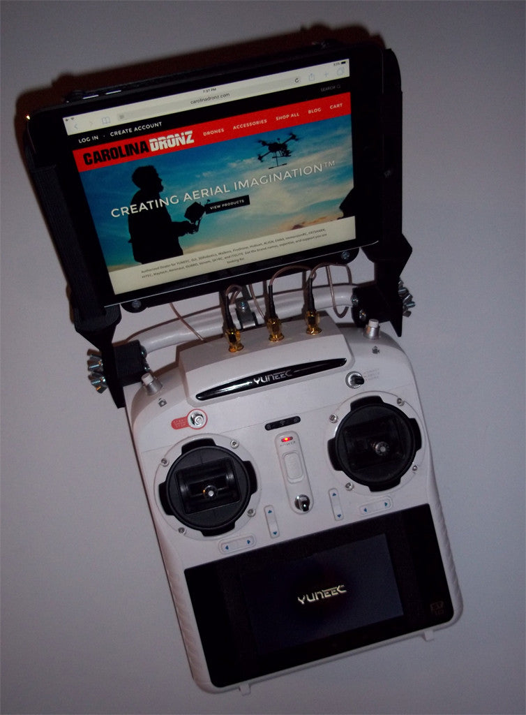 Yuneec 3D Printed iPAD Mini Tablet Mount for the Yuneec ST10 Controller Series - Carolina Dronz - 1