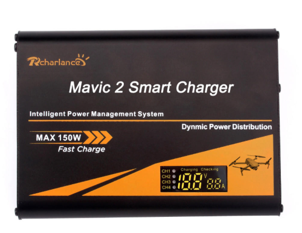 5-in-1 Multi Battery Remote Control Smart Fast Charger Charging for DJI Mavic 2 Pro/Zoom