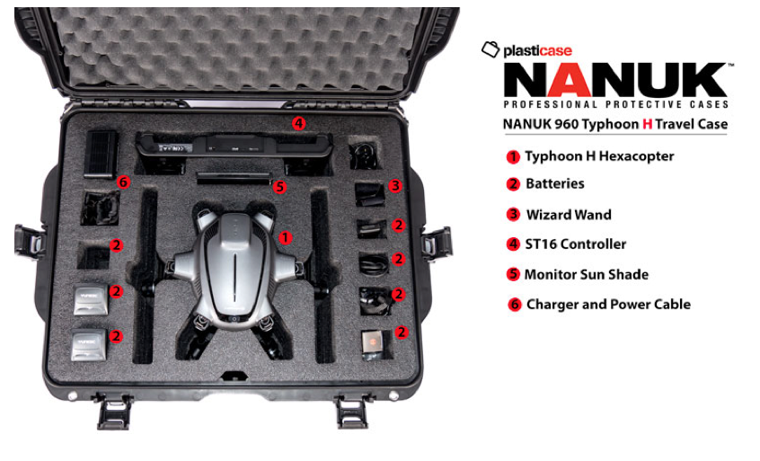 Nanuk, Yuneec Typhoon H, Heavy Duty Rolling Travel Case - Carolina Dronz - 1