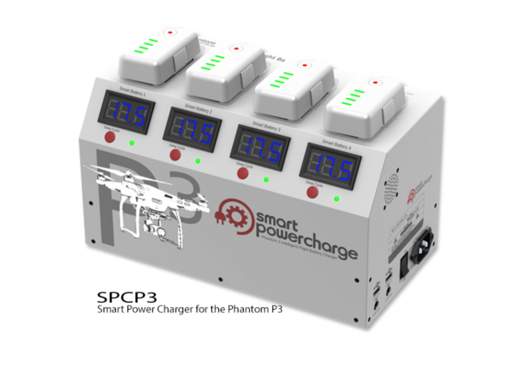 SMART POWERCHARGER Charging Station for Phantom 3 Batteries - Carolina Dronz
