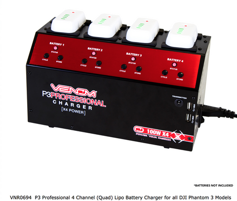 Venom Phantom 3, 4 Channel Quad Lipo Charger - Carolina Dronz - 1