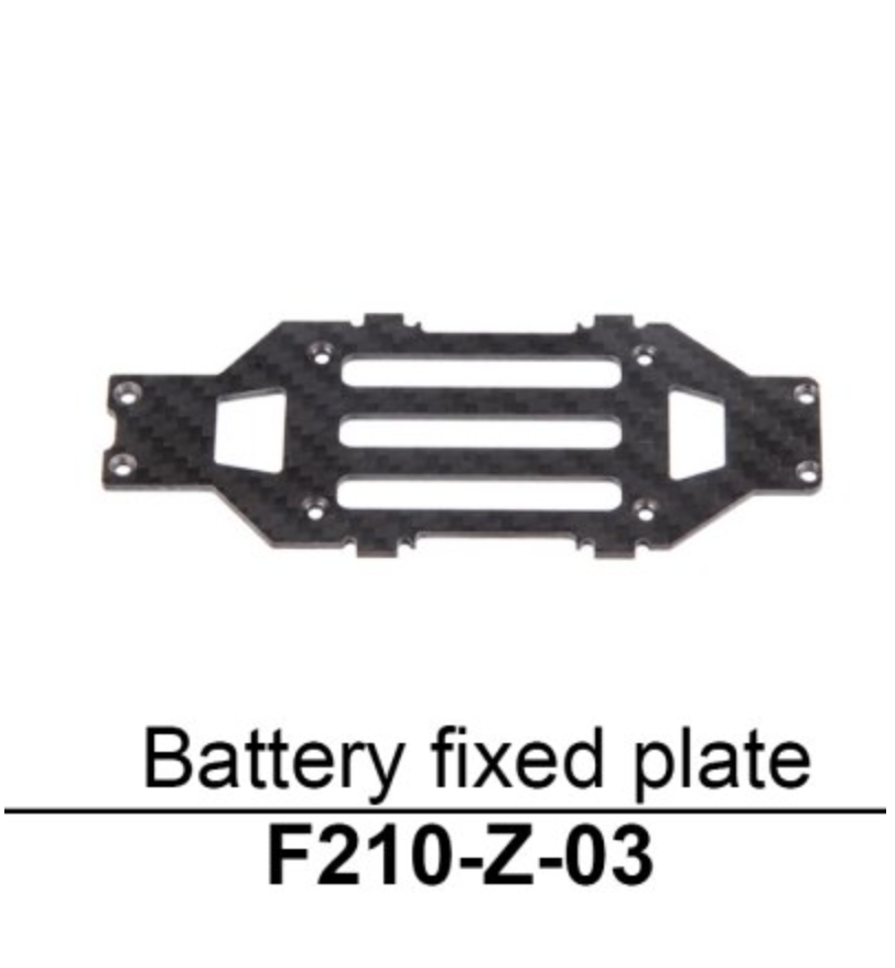 Walkera F210 Battery Fixed Plate - Carolina Dronz