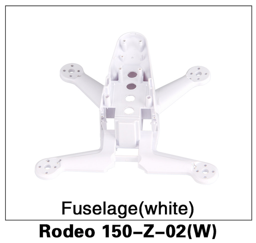Walkera F150 Rodeo Fuselage White - Carolina Dronz