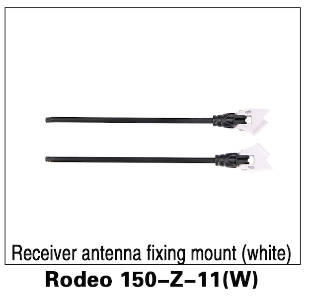 Walkera F150 Rodeo Receiver Antenna Fixing Mount (white) - Carolina Dronz