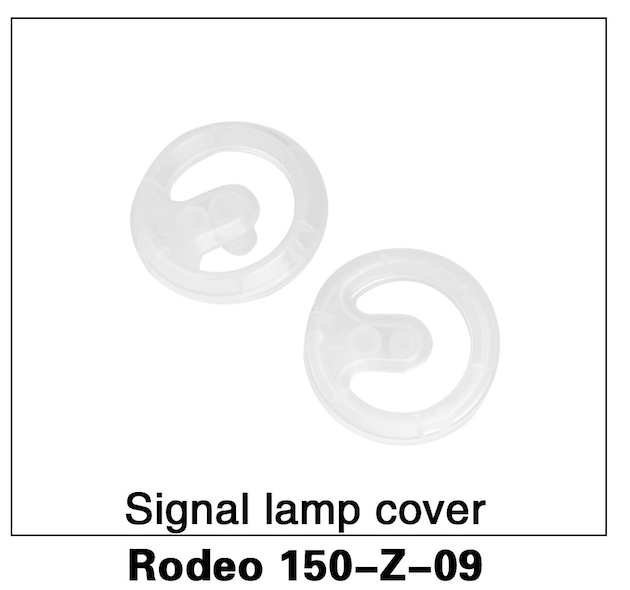 Walkera F150 Rodeo Signal Light Cover White - Carolina Dronz