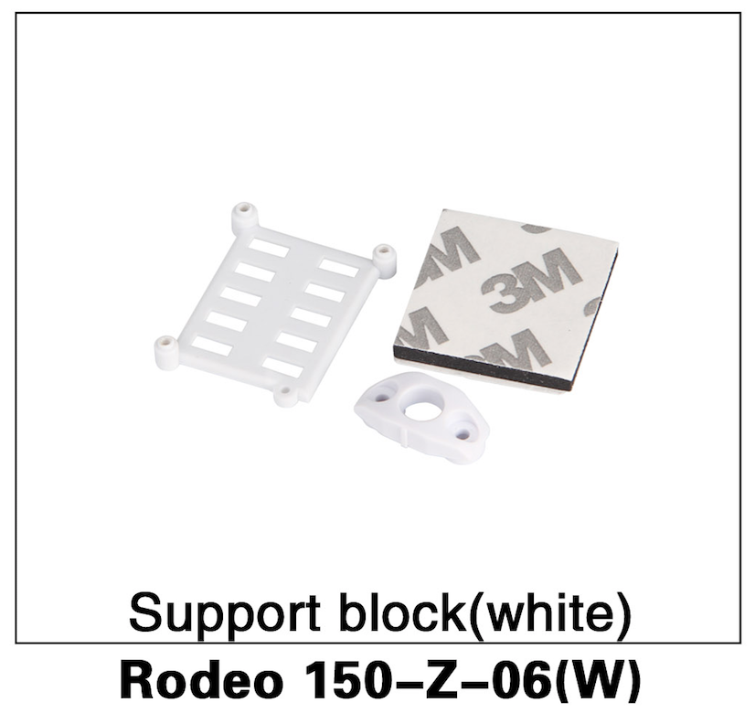 Walkera F150 Rodeo Support Block White - Carolina Dronz